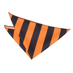 Orange & Black Striped Handkerchief / Pocket Square