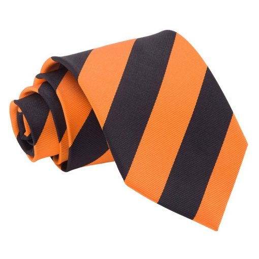 Orange & Black Striped Classic Tie