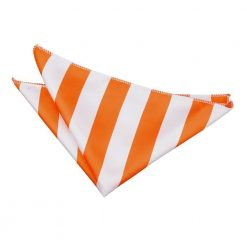 Orange & White Striped Pocket Square
