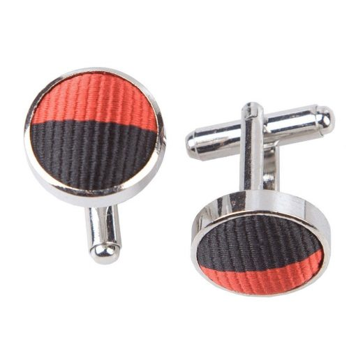 Red & Black Striped Cufflinks
