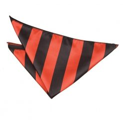 Red & Black Striped Handkerchief / Pocket Square