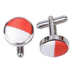 Red & White Striped Cufflinks