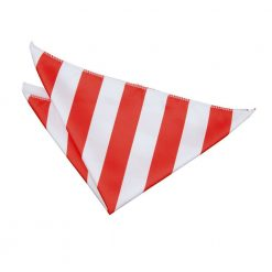 Red & White Striped Handkerchief / Pocket Square