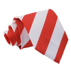 Red & White Striped Classic Tie