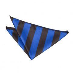 Royal Blue & Black Striped Pocket Square