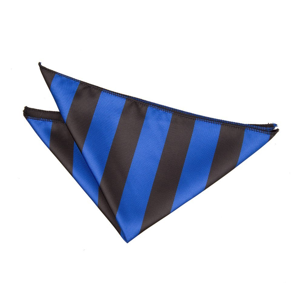 71442a44f3c7 Men's Striped Royal Blue & Black Tie