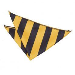 Yellow & Black Striped Pocket Square