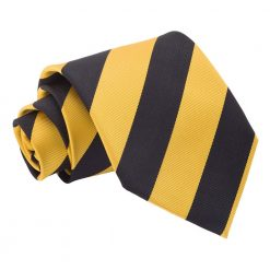 Yellow & Black Striped Classic Tie