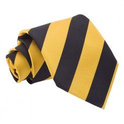 Yellow & Black Striped Classic Tie