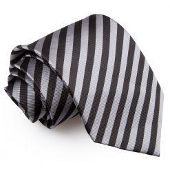 Black & Grey Thin Stripe Classic Tie