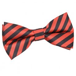 Black & Red Thin Stripe Pre-Tied Bow Tie