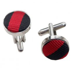 Black & Red Thin Stripe Cufflinks