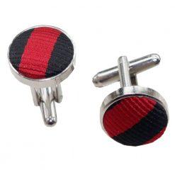 Black & Red Thin Stripe Cufflinks