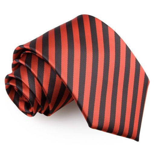 Black & Red Thin Stripe Classic Tie