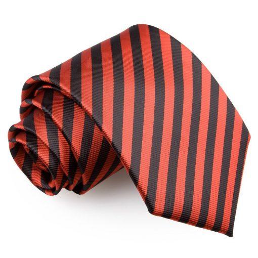 Black & Red Thin Stripe Classic Tie