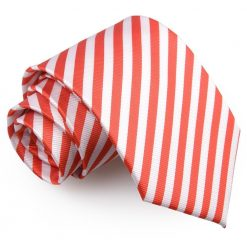 White & Red Thin Stripe Classic Tie
