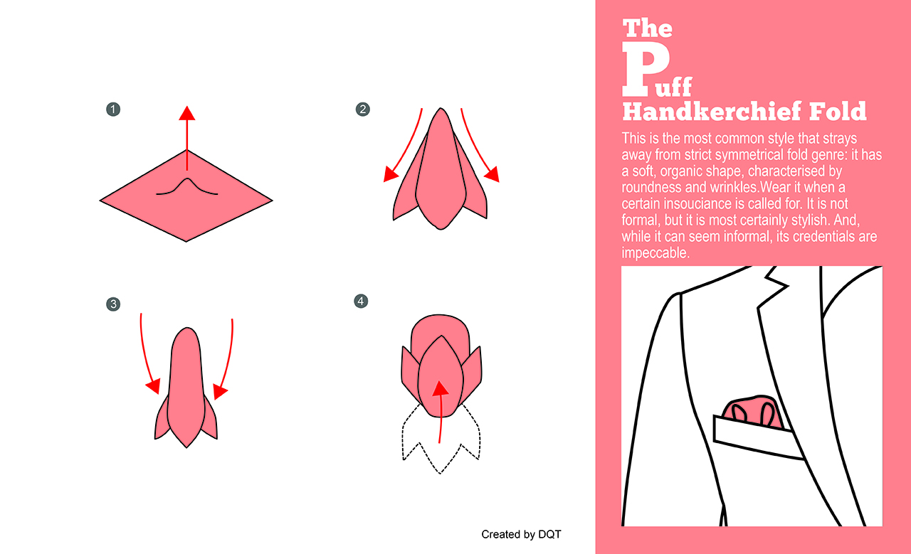 How To Fold a Puff Handkerchief (6 of 11) by DQT