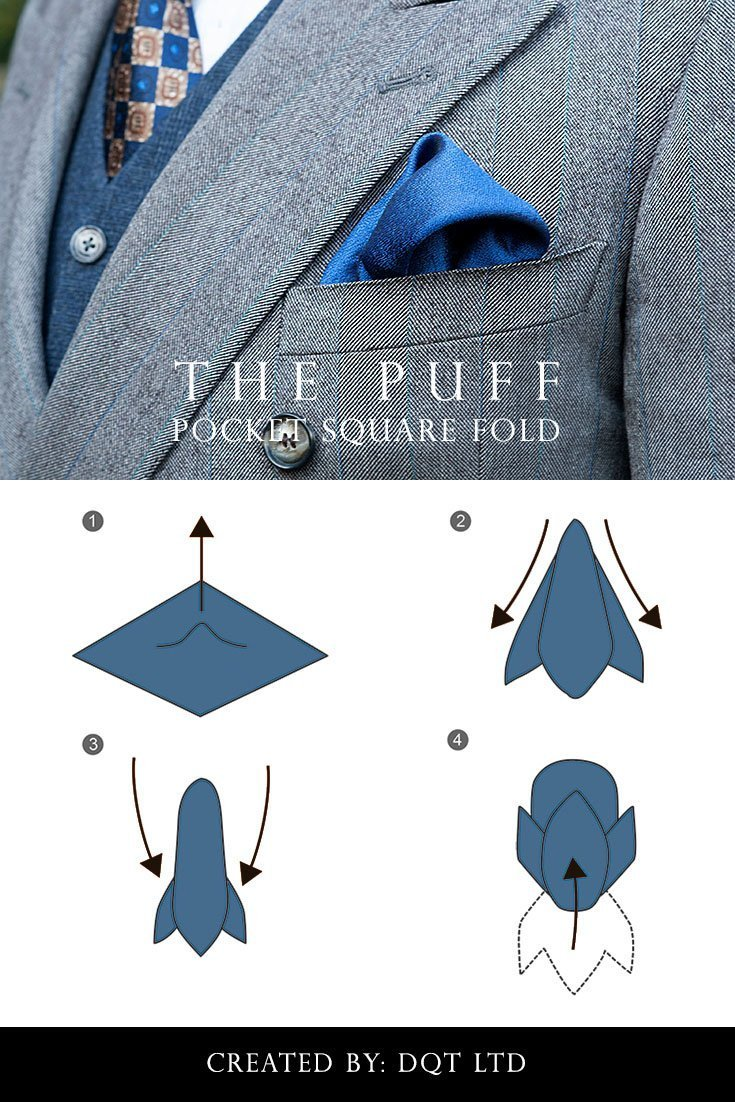 How To Fold a Puff Pocket Square (6 of 11) by DQT