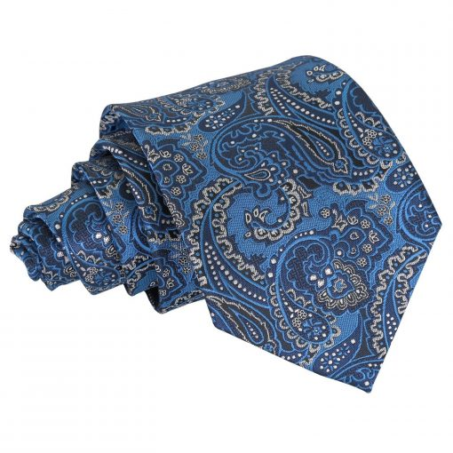 Blue & Silver Royal Paisley Classic Tie