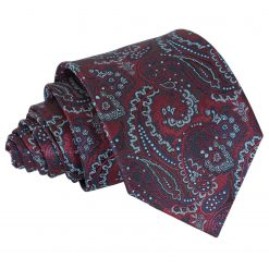 Burgundy & Navy Royal Paisley Classic Tie