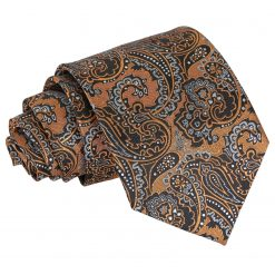 Gold & Silver Royal Paisley Classic Tie