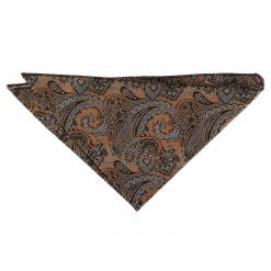 Gold & Silver Royal Paisley Handkerchief / Pocket Square