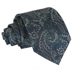 Green & Navy Royal Paisley Classic Tie