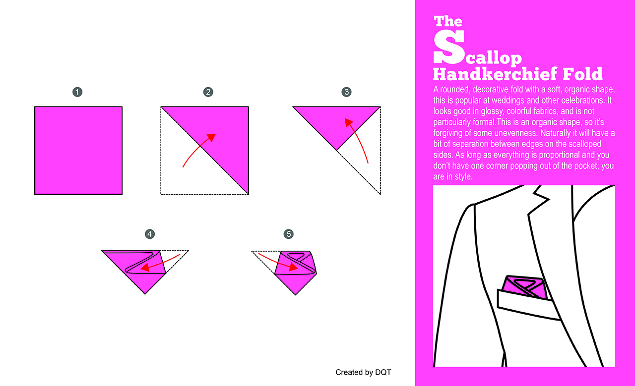 How To Fold a Scallop Handkerchief (7 of 11) by DQT