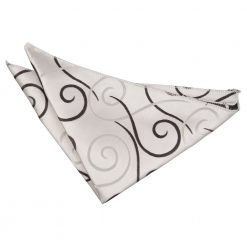 Black Scroll Handkerchief / Pocket Square