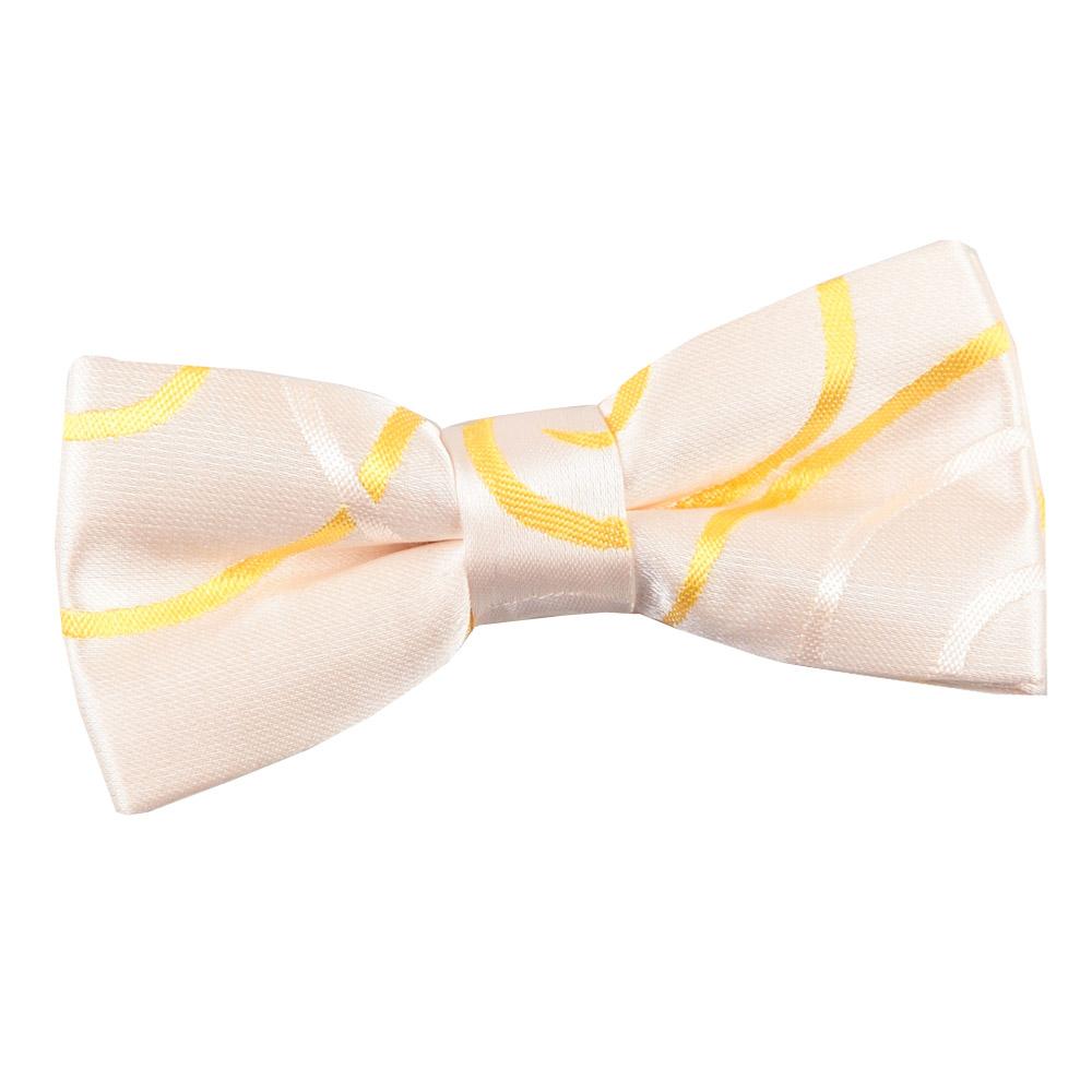 Boys Scroll Gold Bow Tie