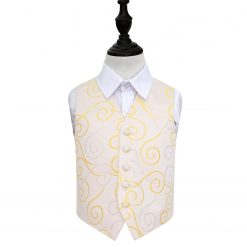 Gold Scroll Wedding Waistcoat for Boys