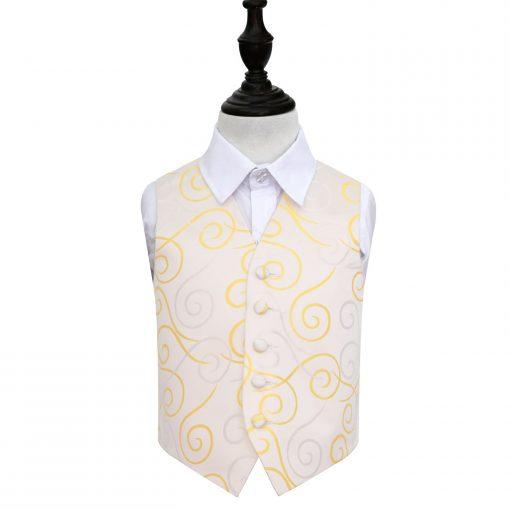 Gold Scroll Wedding Waistcoat for Boys
