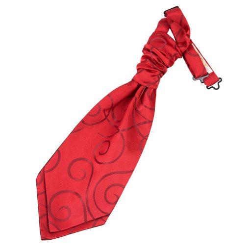 Burgundy Scroll Pre-Tied Wedding Cravat for Boys