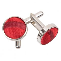 Burgundy Scroll Cufflinks