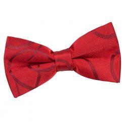 Burgundy Scroll Pre-Tied Bow Tie