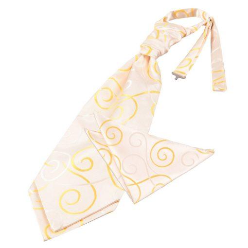 Gold Scroll Wedding Cravat & Pocket Square Set