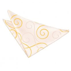 Gold Scroll Pocket Square