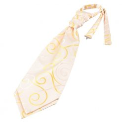 Gold Scroll Pre-Tied Wedding Cravat