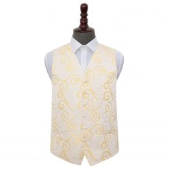 Gold Scroll Wedding Waistcoat
