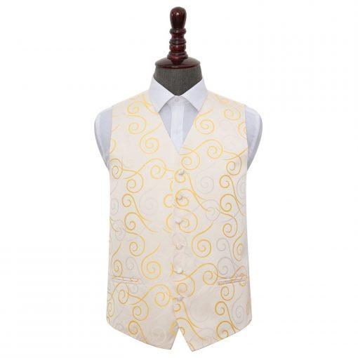 Gold Scroll Wedding Waistcoat