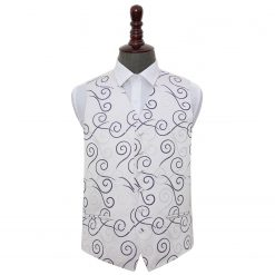 Purple Scroll Wedding Waistcoat