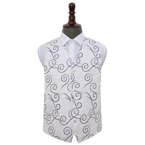 Purple Scroll Wedding Waistcoat