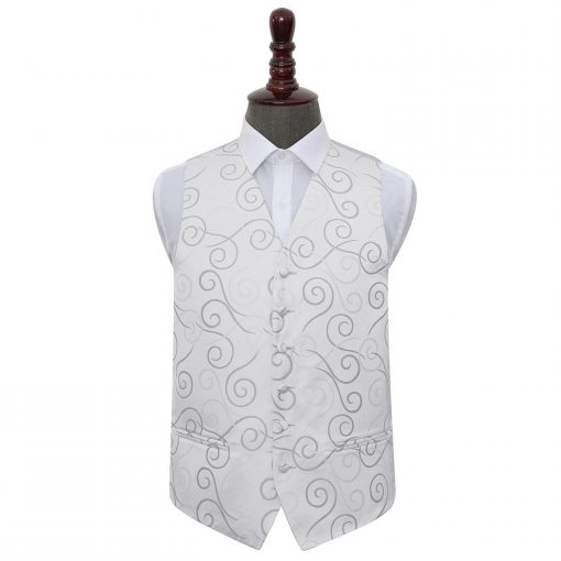 Silver Scroll Wedding Waistcoat