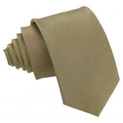 Bronze Plain Shantung Slim Tie