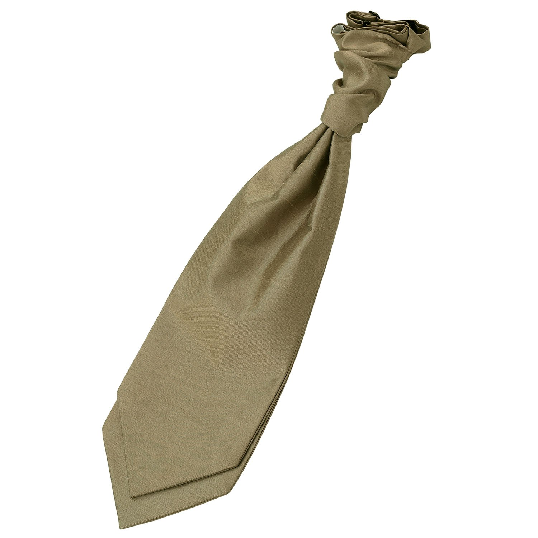 Bronze Plain Shantung Pre-Tied Wedding Cravat