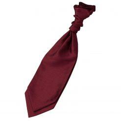 Burgundy Plain Shantung Pre-Tied Wedding Cravat