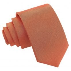 Copper Plain Shantung Slim Tie