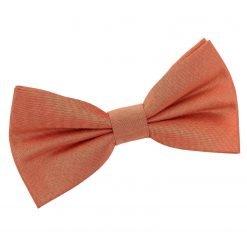 Copper Plain Shantung Pre-Tied Bow Tie