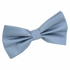 Dusty Blue Plain Shantung Pre-Tied Bow Tie
