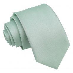 Dusty Green Plain Shantung Slim Tie